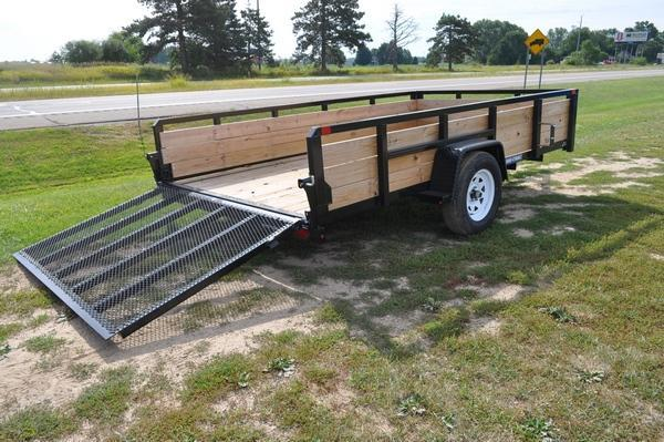 "2019 Sure-Trac 82"" x 12' 3 Board High Utility Trailer For Sale"