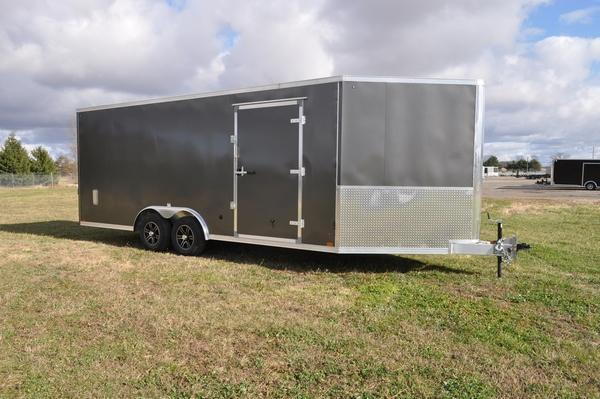 2021 Haul-it All Aluminum 8.5 x 20 + 5 Combo Snowmobile Trailer For Sale