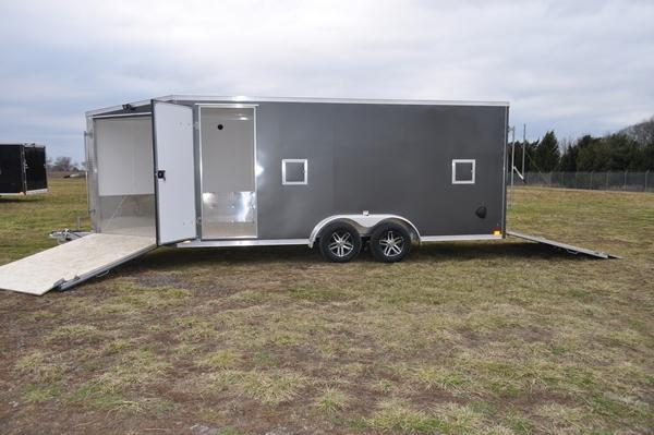 2021 Haul-it 7.5' x 23' Inline 3 Place Enclosed Snowmobile Trailer For Sale