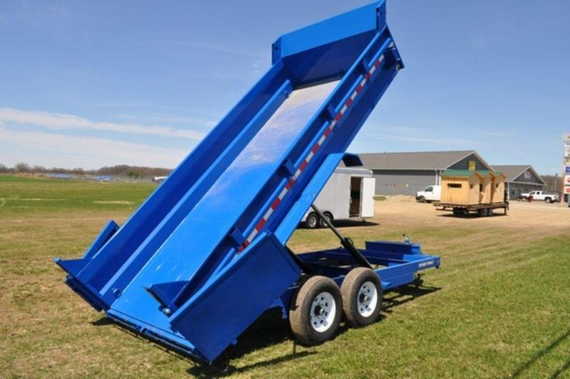 "2019 Sure-Trac 82"" x 16' Low Pro Blue Dump Trailer For Sale"