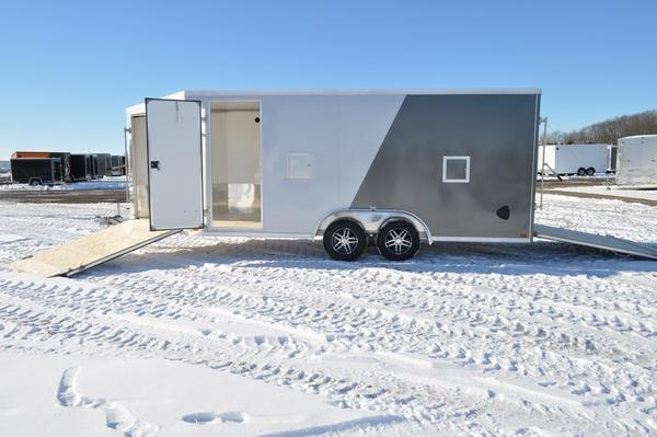 2021 Haul-it 7.5 x 23 Two Tone Enclosed Snowmobile Trailer For Sale