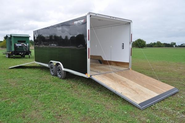 2020 Triton 8.5 x 20' + 5' All Aluminum Snowmobile Trailer For Sale