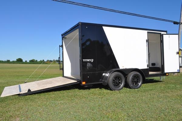 2021 Stealth Trailers 7 x 14 Two Tone Enclosed Motorcycle Trailer For Sale