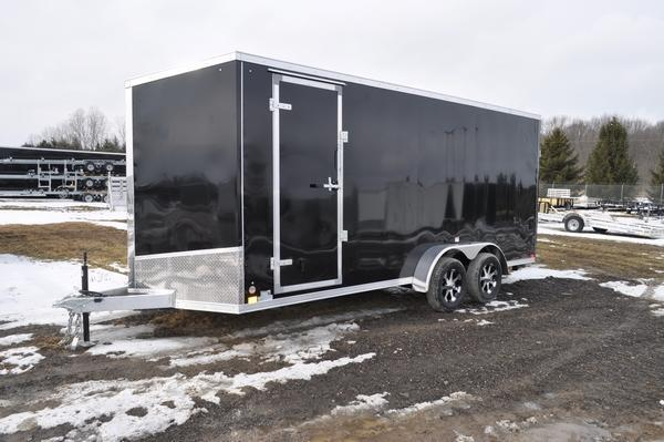 2020 Haul-it 7 x 18 All Aluminum Wedge Nose Enclosed Cargo Trailer For Sale