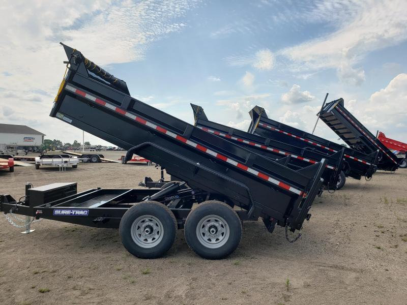 2021 Sure-Trac 82x12 HD Scissor lift  Low Profile  Dump Trailer For Sale.