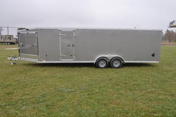 2020 Haul-it All Aluminum 7 x 29 Enclosed 4 or 5 Place Snowmobile Trailer For Sale
