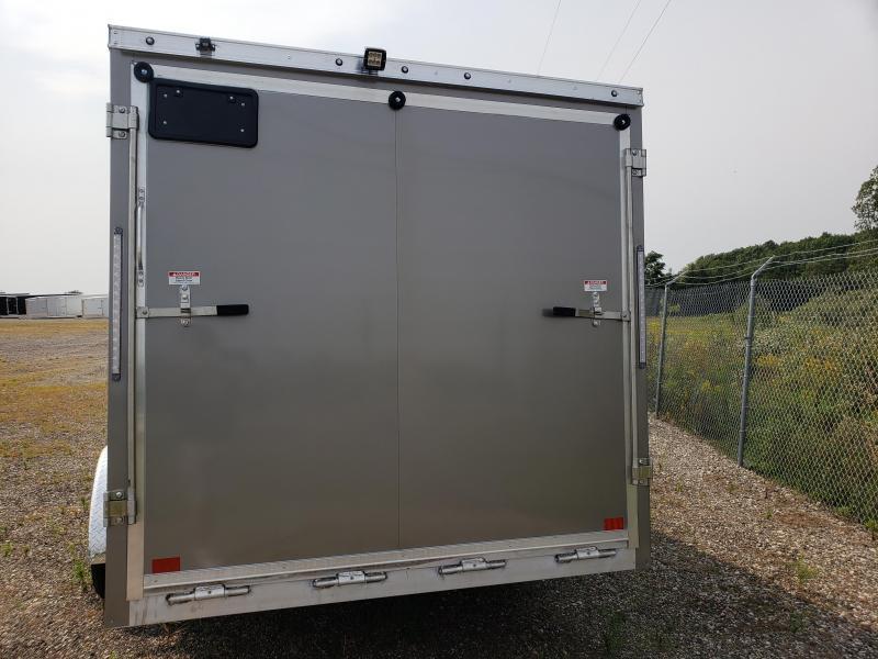 2022 Discovery Trailers 7x29TA35 Aero Lite SE 2 Place Aluminum Snowmobile Trailer For Sale.