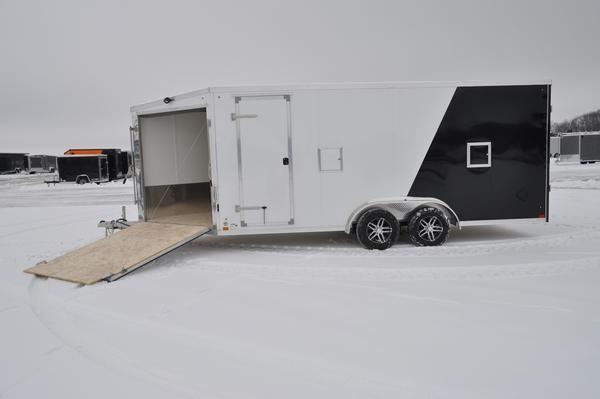2021 Haul-it 7.5 x 23 Two Tone All Aluminum Snowmobile Trailer For Sale