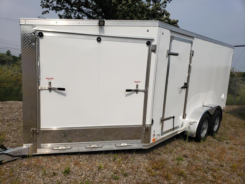 2022 Discovery Trailers 7x19 2 - Place Aluminum  Snowmobile Trailer For Sale.