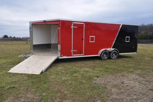 2021 Haul-it All Aluminum 7.5' x 27' Inline Snowmobile Trailer For Sale
