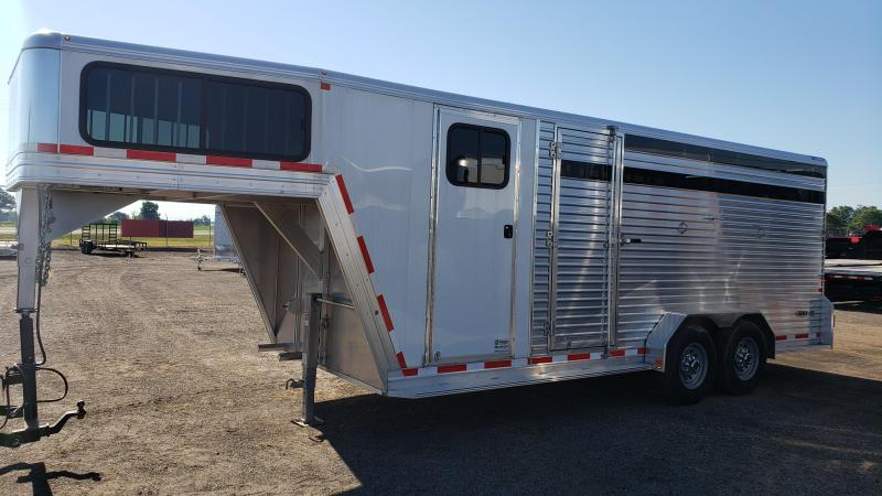 2017 Frontier Livestock Gooseneck 20ft Trailer For Sale Michigan.