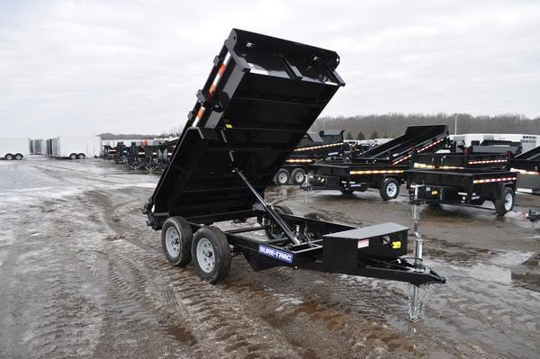 2020 Sure-Trac 5 x 10 Powder Coated Low Profile Dump Trailer For Sale