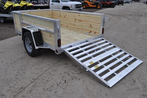 2021 Haul-it All Aluminum 5 x 8 Open 4 Board High Utility Trailer For Sale