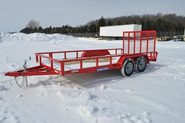 2021 Sure-Trac 7 x 16 Tube Top 7K Utility Trailer For Sale