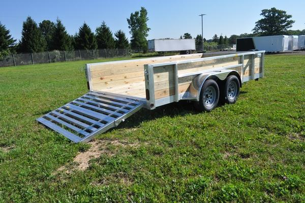 "2021 Haul-it All Aluminum 80"" x 14' 4 Board High Utility Trailer For Sale"