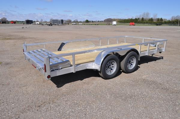 2022 Haul-it 7 x 16 Tandem Axle All Aluminum Utility Trailer For Sale