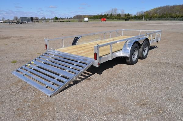 2022 Haul-it 7 x 16 Tandem Axle All Aluminum Utility Trailer For Sale