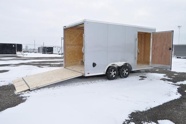 2021 Haul-it All Aluminum 8.5 x 16 Wedge Nose Enclosed Cargo Trailer For Sale