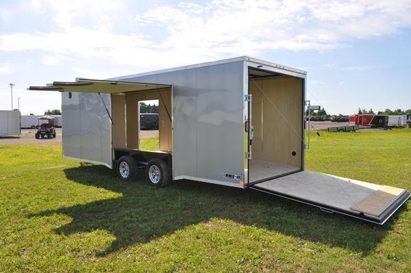 2020 Haul-it 8.5 x 24 Wedge Nose Car / Racing Trailer W/Full Escape Door for Sale
