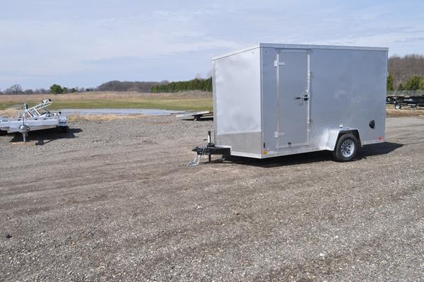 2022 Haul-it 7 x 12 Wedge Nose 7' Tall W/Brakes Enclosed Cargo Trailer For Sale