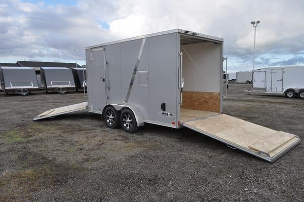 2019 Haul-it 7 x 19 All Aluminum 7' Tall Snowmobile Trailer For Sale