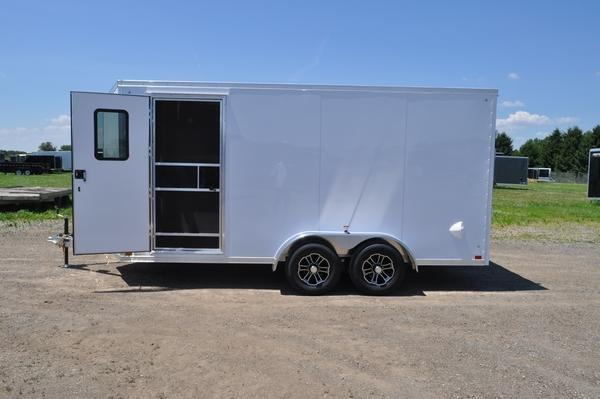 2021 Haul-it 7 x 16 All Aluminum Enclosed Cargo Trailer For Sale