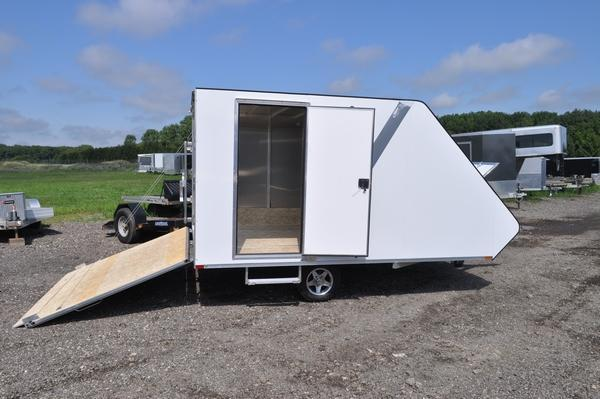 2020 Sport Haven 13' All Aluminum Deluxe Hybrid Snowmobile Trailer For Sale