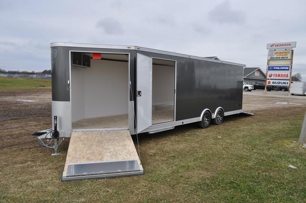 2020 inTech Trailers 8.5 x 24 + 5 All Aluminum Combo Snowmobile Trailer For Sale