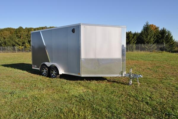 2020 Haul it All Aluminum 7 5 x 19 Two Tone Snowmobile Trailer For Sale