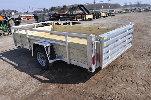 2022 Haul-it All Aluminum 80 x 12 Open 3 Board High Utility Trailer For Sale