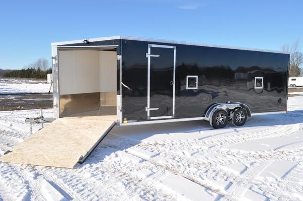 2021 Haul-it 7.5 x 27 All Aluminum Enclosed Snowmobile Trailer For Sale