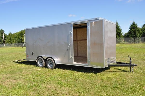 2020 American Hauler 7 x 18 Wedge Nose Enclosed Cargo Trailer W/7' Interior For Sale