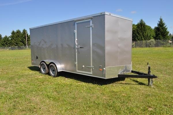 2020 American Hauler 7 x 18 Wedge Nose Enclosed Cargo Trailer W/7' Interior For Sale