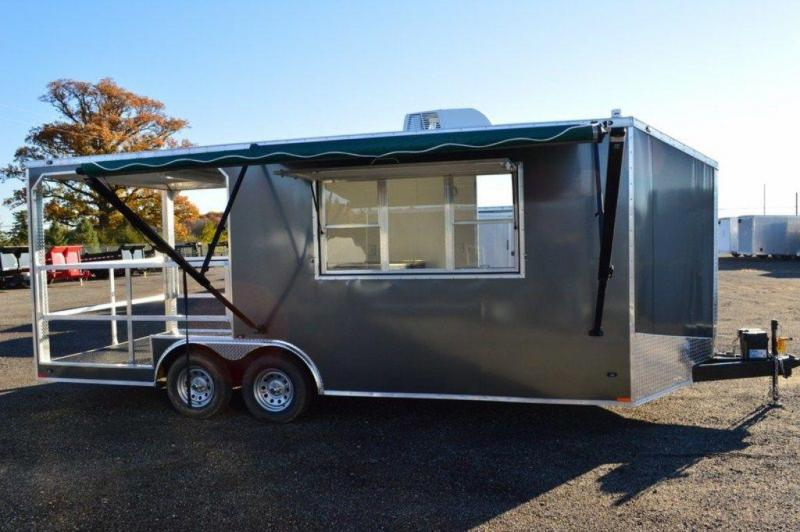 2017 Custom Enclosed Concession/BBQ Trailer