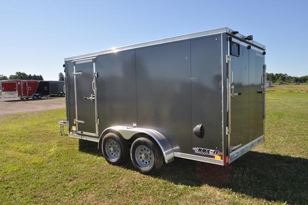 2020 Haul-it All Aluminum 7 x 19 Inline Snowmobile Trailer For Sale