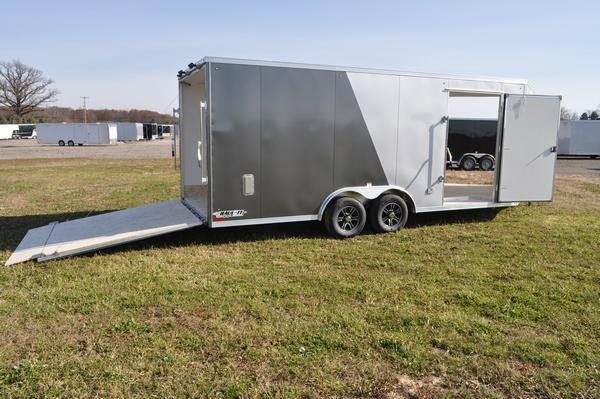 2021 Haul-it 8.5' x 20' + 5' All Aluminum Combo Snowmobile Trailer For Sale