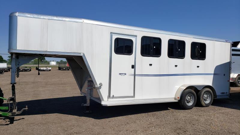 2017 Frontier 3-Horse aluminum Horse Trailer for sale Michigan.