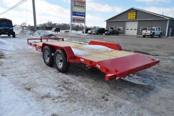 2021 Sure-Trac 7 x 18 (16+2) C-Channel Car Trailer for Sale.