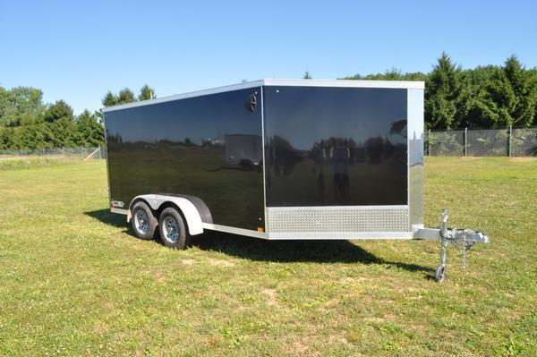 2020 Haul-it All Aluminum 2 Place 7 x 19 Inline Snowmobile Trailer