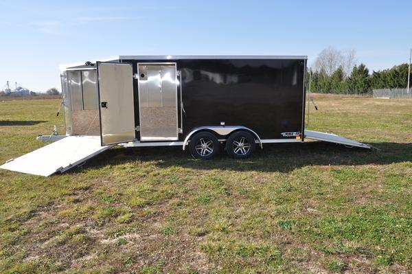 2021 Haul-it All Aluminum 7 x 19 Inline Snowmobile Trailer For Sale
