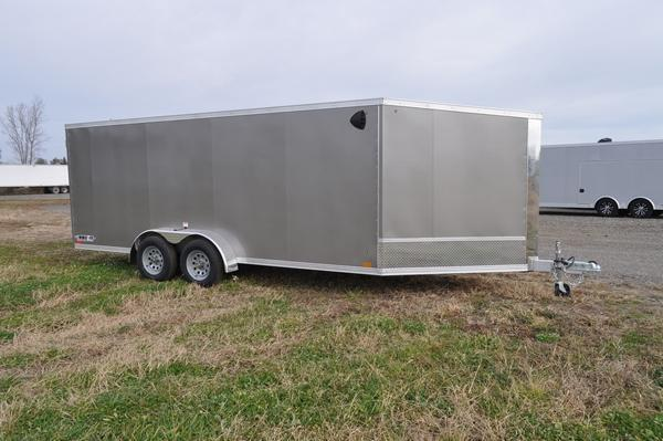 2021 Haul-it 7 x 23 All Aluminum 3 Place Snowmobile Trailer For Sale