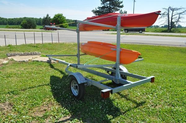 2021 Genesis Galvanized Kayak Trailer Watercraft Trailer