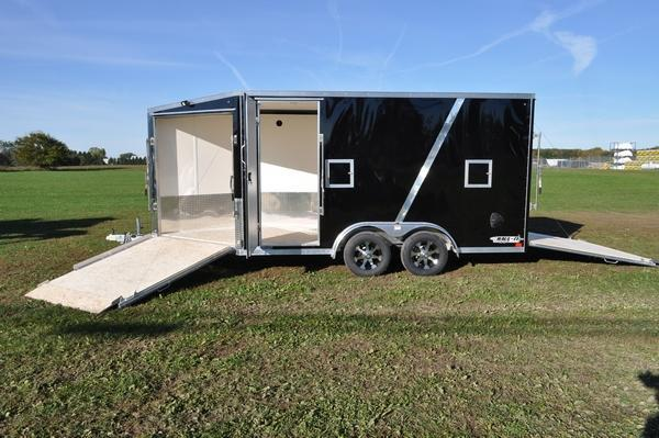 2020 Haul-it All Aluminum 7.5 x 19 Enclosed 7FT Tall Snowmobile Trailer For Sale