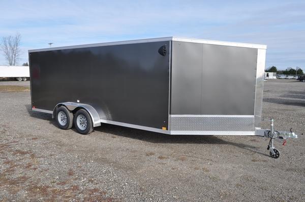 2021 Haul-it All Aluminum 7 x 23 3 Place Enclosed Snowmobile Trailer