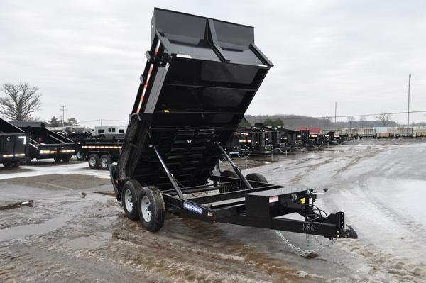 "2020 Sure-Trac 82"" x 12' Powder Coated Low Profile Dump Trailer For Sale"
