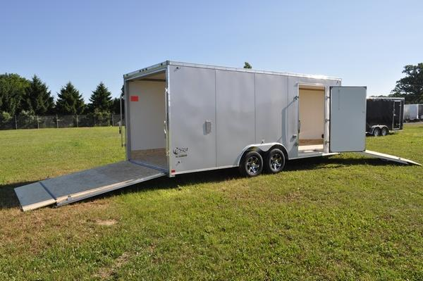 2020 Stealth Trailers All Aluminum 8.5 x 20 + 5 Drive On/Off Combo/Snowmobile Trailer For Sale