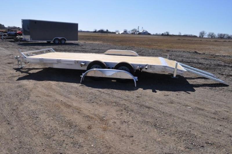 2021 All Aluminum 7 x 18 Open Car Trailer For Sale