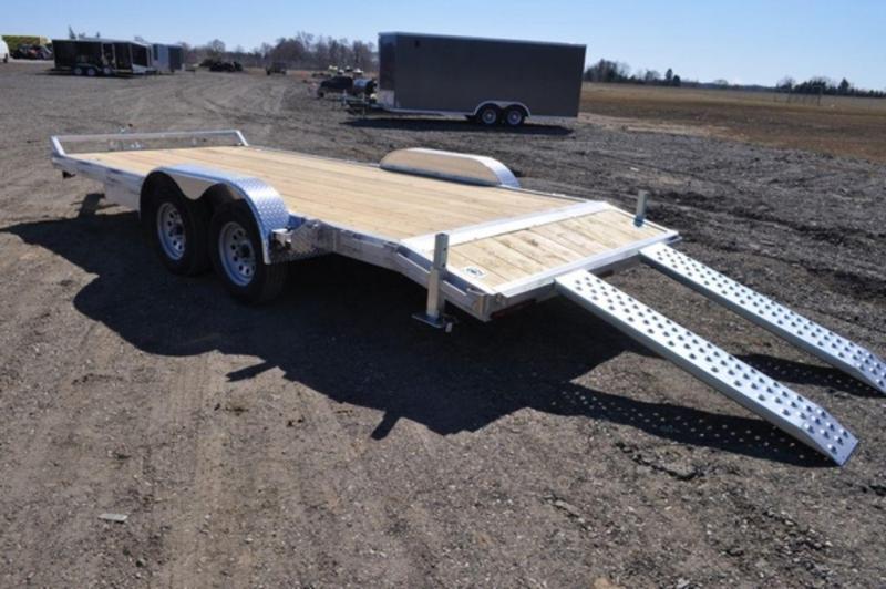 2021 All Aluminum 7 x 18 Open Car Trailer For Sale
