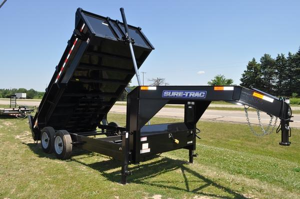 "2020 Sure-Trac 82"" x 14' Low Profile Gooseneck 16K Dump Trailer For Sale"