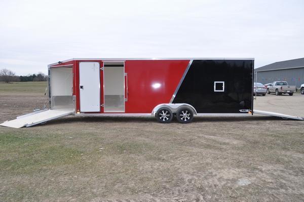 2020 Haul-it All Aluminum 7.5 x 29 Enclosed Snowmobile Trailer For Sale